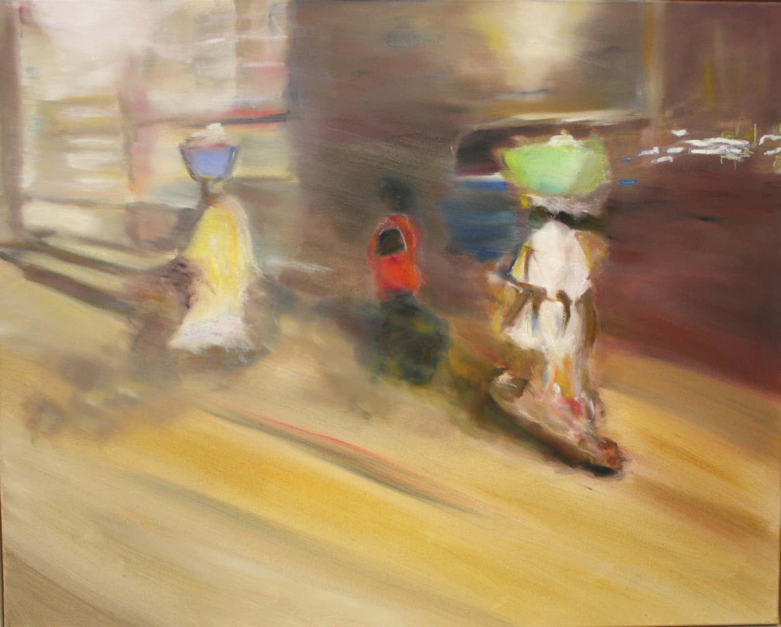 Three women Luanda - small, 2013, oil on canvas, 80 x 100 cm. Verkauft/sold