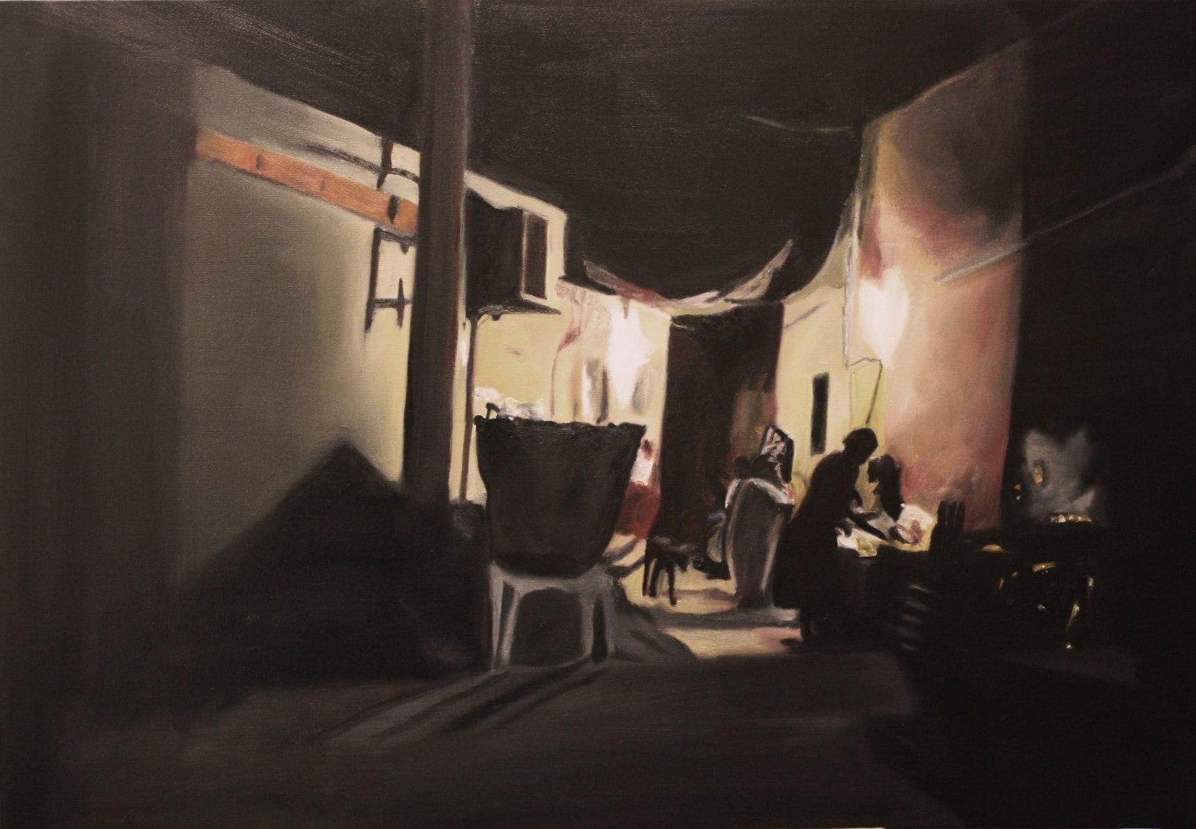 Luanda 26.08.2009 #1 Nightyard (2012) 100x70cm
