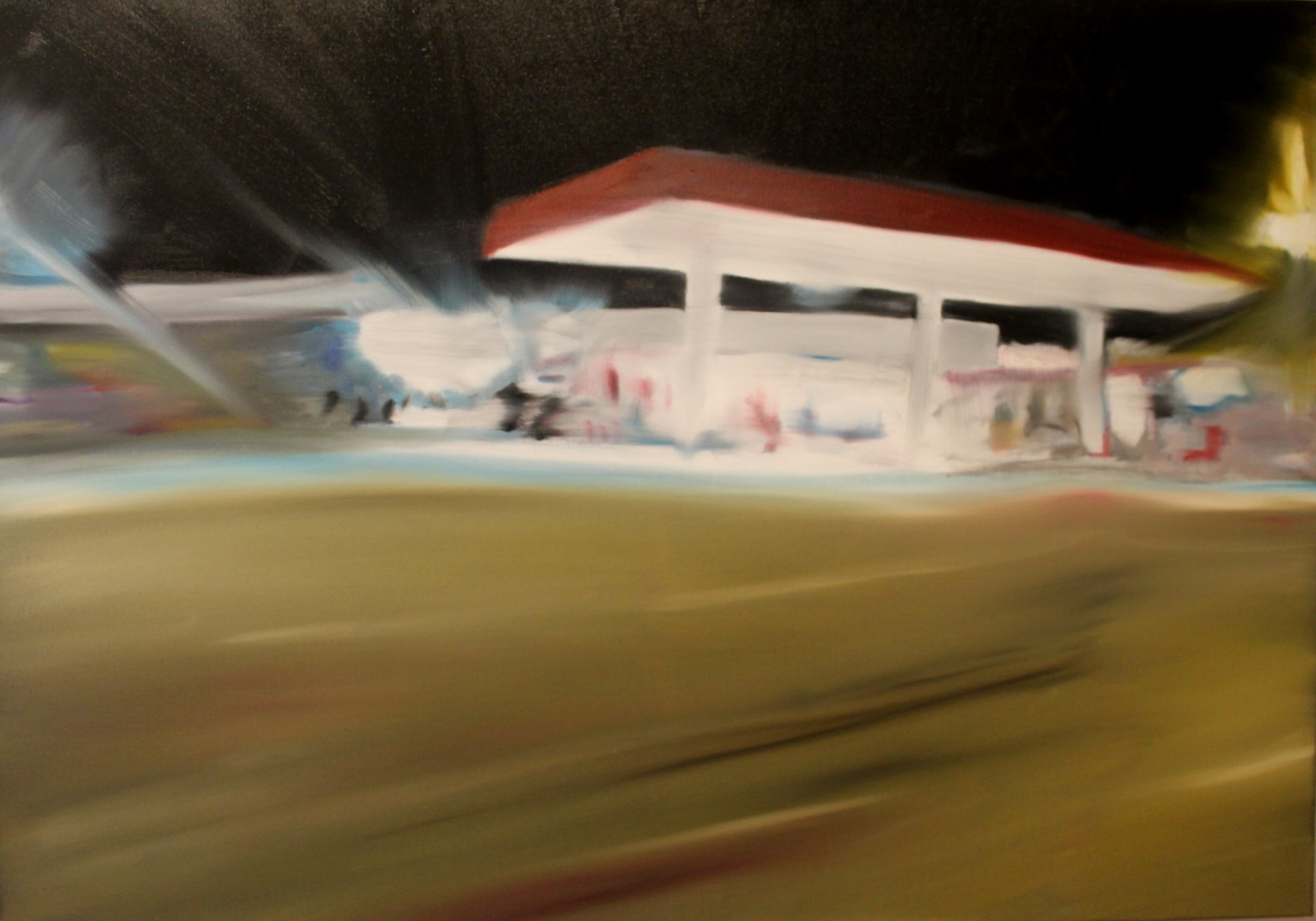 Rundu Gas Station, 2014, oil on canvas, 70 x 100 cm