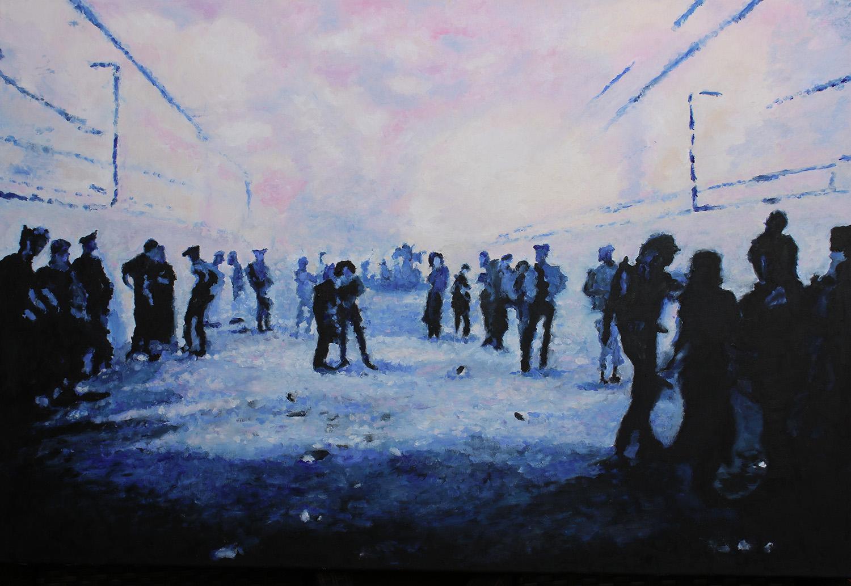 Oben air, 2017, Öl auf Leinwand,  80 x 120 cm