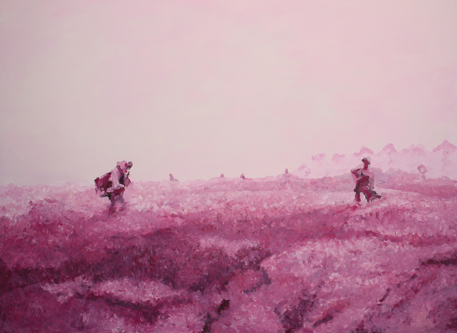 Raspberry fields, 2017, Öl auf Leinwand, 90 x 120 cm, sold
