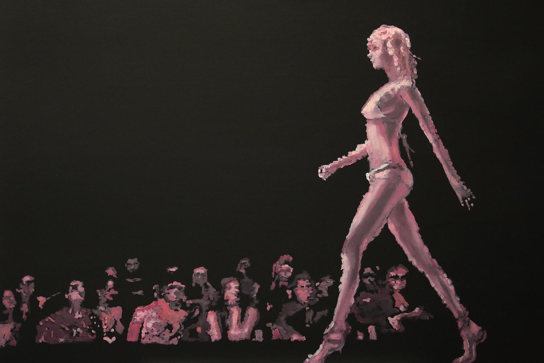 Schnelles Mädchen, 2017, Öl auf Leinwand, 80 x 100 cm