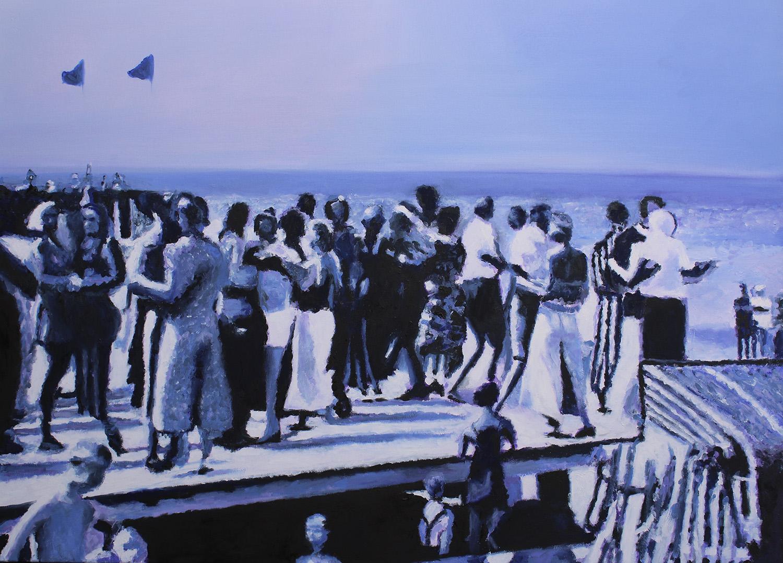 Tanz in Rauschen, 2017, Öl auf Leinwand, 90 x 120 cm, sold