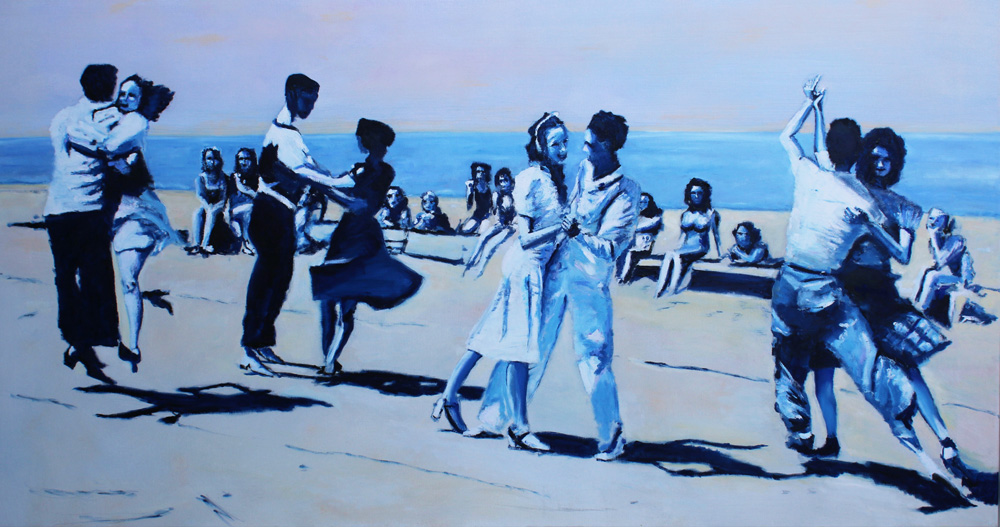 Long Island Sundance, 2017, Oil on canvas, 80 x 160 cm
