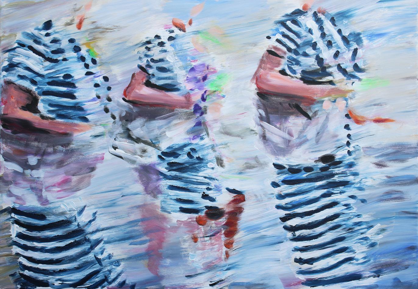 On Champs Elysees, Öl auf Leinwand, 70 x 100 cm, 2017