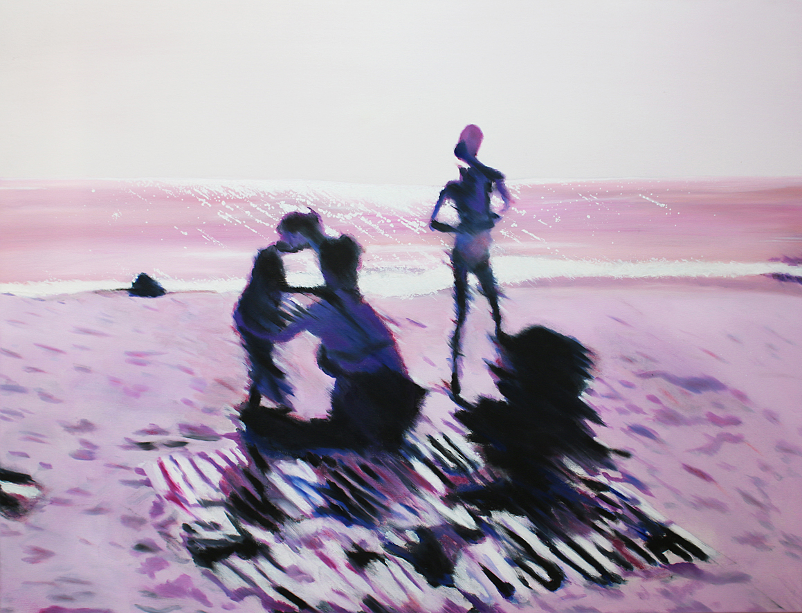 Swakop family in pink, 2017, oil on canvas, 90 x 130 cm