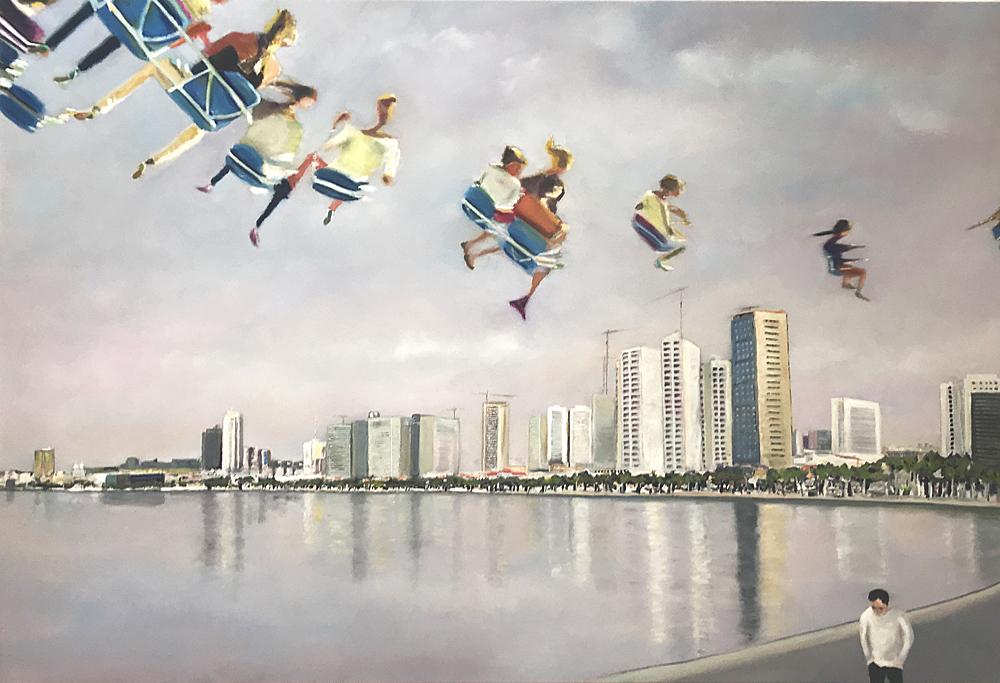 Lets fly, Öl auf Leinwand, 130 x 190 cm, 2018