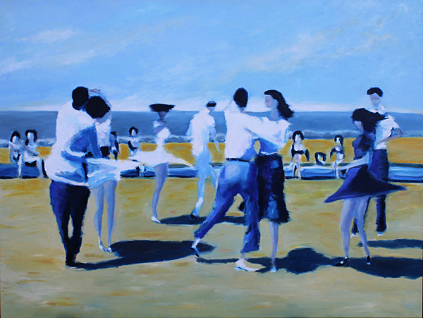 Beach Balboa (new), 2019, oil on canvas, 90 x 120 cm
