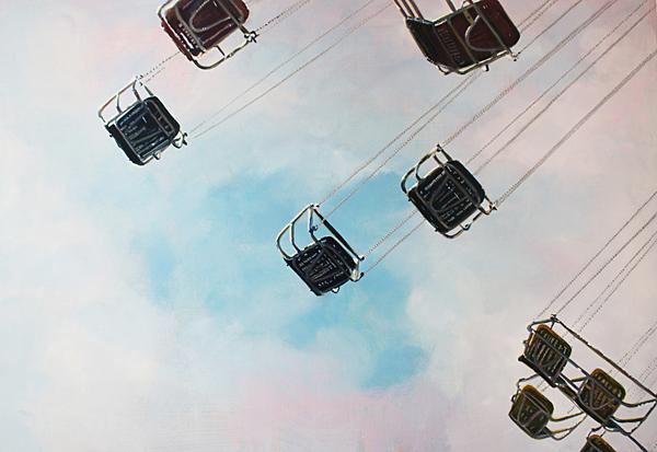 The Clouds, the Sky, 2019, Öl auf Leinwand, 90 x 130 cm
